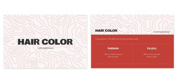 Carte de parrainage pour votre salon de coiffure 3