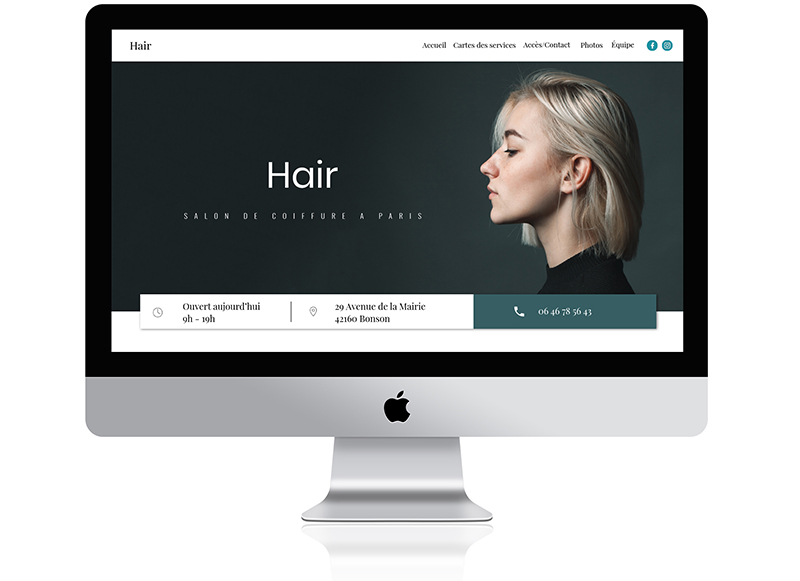 site web hair par wavy - desktop