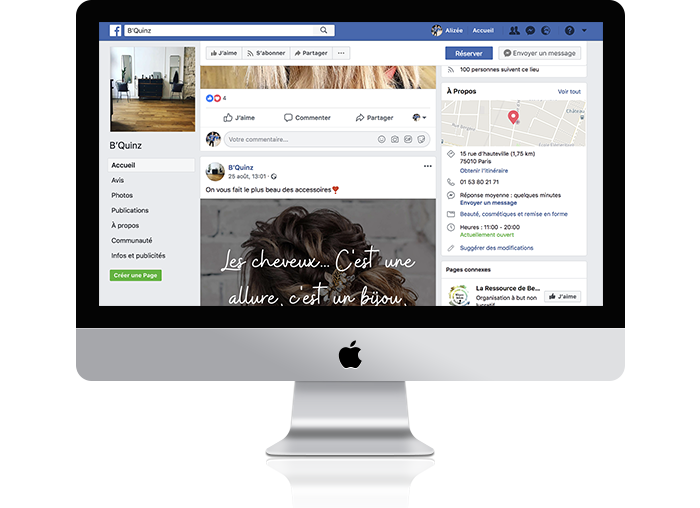 la page facebook d'un client wavy