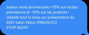 SMS d'anniversaire pour fidéliser vos clients