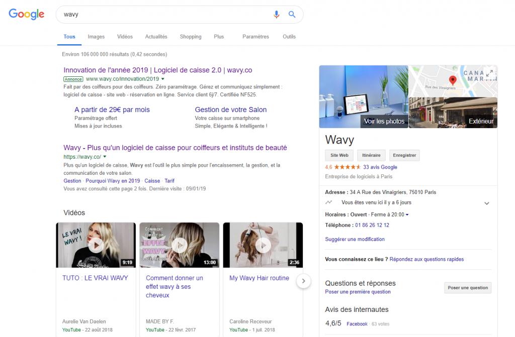Fiche Wavy Google My Business