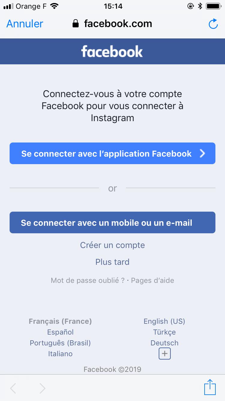 Se connecter avec l'application