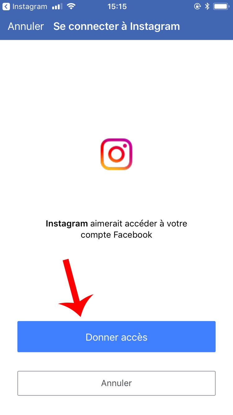 donnez l'accès à Instagram
