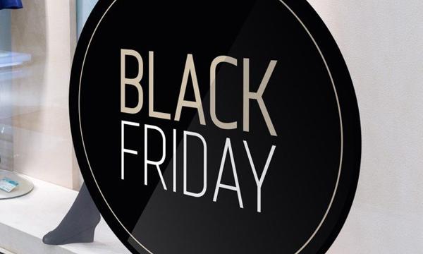 Stickers Black Friday pour la vitrine de votre salon de coiffure ou institut de beauté